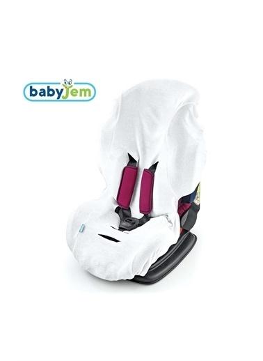 Baby Jem Babyjem Örme Havlu Oto Koltugu Kilifi Beyaz Beyaz